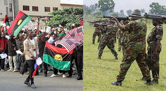 Nigerian Soldiers Allegedly Combat With IPOB Members
